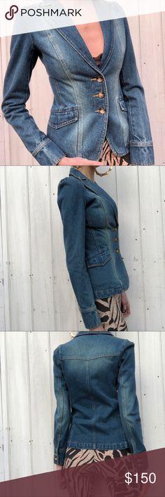 Vintage denim blazer Vintage denim blazer. Killer!!! Looks like the Gucci one. No size but fits like a small. Vintage Jackets & Coats Blazers