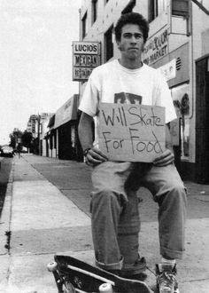 Jason Lee Will Skate for Food 1989