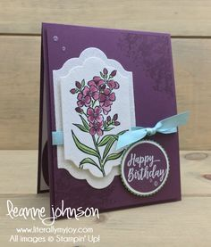 Wild & Fresh Birthday | Stampin\' Up! | Southern Serenade | Number of Years #literallymyjoy #birthday #flowers #celebrate #celebration #watercoloring #FreshFig #2018OccasionsCatalog #20172018AnnualCatalog