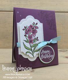 Wild & Fresh Birthday | Stampin\' Up! | Southern Serenade | Number of Years #literallymyjoy #birthday #flowers #celebrate #celebration #watercoloring #FreshFig #2018OccasionsCatalog #20172018AnnualCatalog