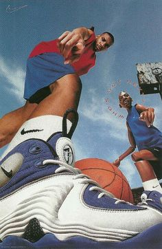 """""""Never eat at Denny's and party like Lil Penny."""" Nike Air Penny II."""
