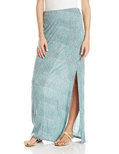 Ashir Aley Womans Floral Bohemian Flowy Chiffon Long Maxi Skirt MBlue *** You can get additional details at the image link.