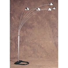 300 Anthony of California M1304F/123 Metal Arc Floor Lamp with 5 ...