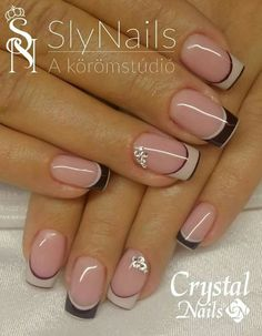 53 Trendy Nails 2018 Negras 53 Trendy Nails 2018 Negras – My World Frensh Nails, French Manicure Nails, Nails 2018, French Tip Nails, Diy Nails, French Nail Art, Nail Tip Designs, French Nail Designs, Art Designs