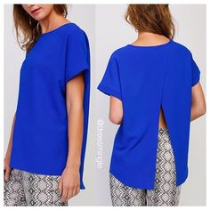 Today's #lotd is also available in COBALT BLUE. ONLY $33. The perfect basic! #dressmingle #cobaltblue #color #basic #slitback #ootd