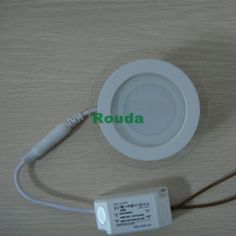 10PCS/LOT 6w round panellight Free shipping High quality 2835 smd led ceiling light for home light 540lm 85-265v led panel light