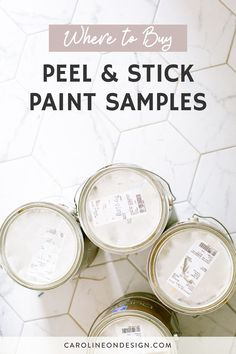 Want to test out the paint before you buy gallons of it, but don't want the mess? In this post, you'll learn what peel and stick paint samples are, where you can buy your favorite brands, and my honest opinion about using these. Best Interior Paint, Interior Decorating Tips, Interior Design Tips, House Design Photos, Cool House Designs, Exterior Paint Colors, Paint Colors For Home, Wall Colors, House Colors