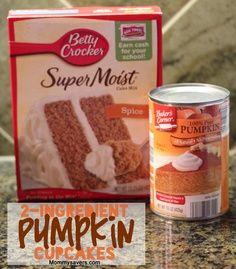 2-Ingredient Pumpkin cupcakes