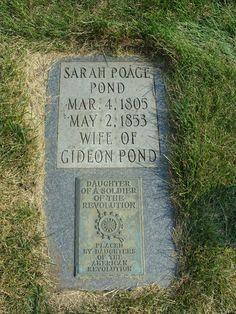 Sarah Poage Pond - Bloomington Cemetery, Bloomington, MN