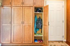 Fed up with backpacks and shoes on the floor? Dedicate extra pantry space for the kids to store their stuff right after they get home!