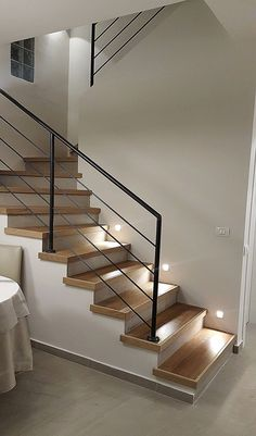 - The stair railing at home is more than a simple way to get from a floor to another. You can create an extension of your personal likes in decoration, . Interior Stair Railing, Modern Stair Railing, Stair Railing Design, Staircase Railings, Modern Stairs, Staircase Metal, Metal Railings, Home Stairs Design, House Design