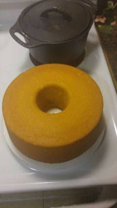 Southern Living's Cream Cheese Pound Cake also add 1 stick of butter flavored Crisco