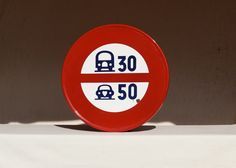 Enamel Road Sign. Speed Limit Sign. Street Sign. by SooooFrenchy
