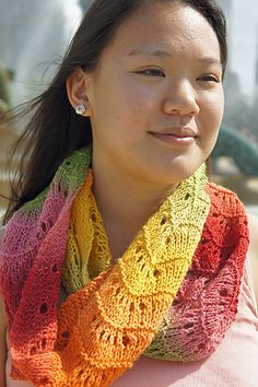 Free: Urban Lace Infinity Scarf pattern by Tanis Gray  #knit #free_pattern