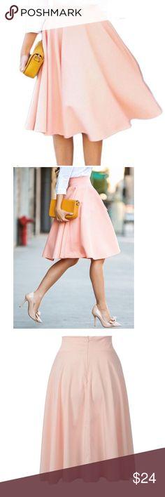 Persun midi swing skirt in s/m Persun Peachy high waist midi skater skirt. Persun Skirts Midi