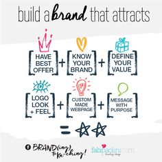 Does your brand attract the right clients + command premium pricing? Here are 5 steps to build that brand. Branding Your Business, Small Business Marketing, Personal Branding, Business Tips, Online Business, Media Marketing, Employer Branding, Personal Logo, Corporate Branding