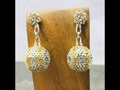Silver & Gold beaded bead & post earrings - YouTube