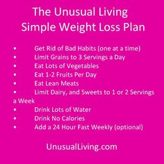 Simple Weight Loss Plan That Works!