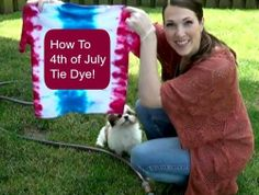 Fourth of July Craft for Kids: How to Make Tie Dye T-Shirts (VIDEO)