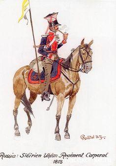 1813 Russian Army. Corporal Siberian Urban Regiment. nacekomie.ru