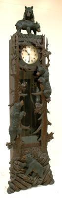 An impressive Black Forest longcase clock, circa 1920