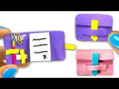 Miniature diary tutorial - School supplies DIY - YolandaMeow♡ - Enjoy creating this miniature doll diary with its school supplies inside: pencil, rubber, paper cli - Barbie Miniatures, Dollhouse Miniatures, Minis, Diy School Supplies, Miniture Things, Diy Dollhouse, Miniature Dolls, Organizer, Creations
