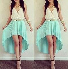 Cute high-low light green slim homecoming dress #promdress $142.99 #coniefox #2016prom