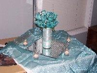 Wedding Reception - DIY Centerpiece - MIZZDEE's Blue Wedding by Color Blog