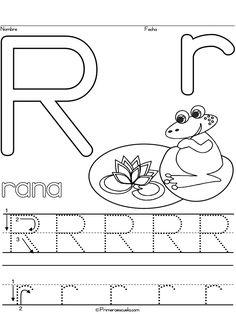 alphabet letter r worksheet standard block font preschool printable activity early. Black Bedroom Furniture Sets. Home Design Ideas