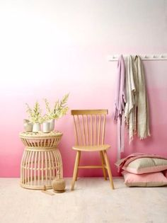 DIY Ideas for Painting Walls - Pink Ombre Wall - Cool Ways To Paint Walls - Techniques, Tips, Stencils, Tutorials, Fun Colors and Creative Designs for Living Room, Bedroom, Kids Room, Bathroom and Kitchen http://diyprojectsforteens.com/cool-ways-to-paint-walls