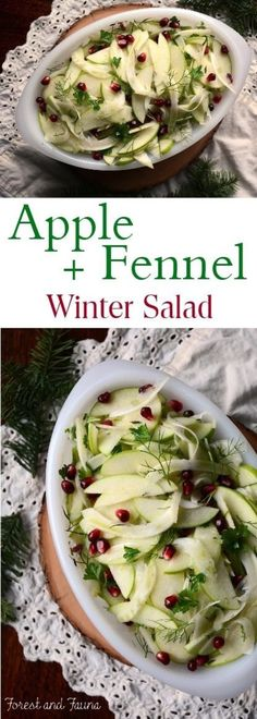 This apple fennel winter salad is a refreshing dish to add to the holiday dinner table. Or a great side to balance out your dinner plate … Paleo Apple Recipes, Fennel Recipes, Vegetarian Recipes, Cooking Recipes, Healthy Recipes, Apple Fennel Slaw Recipe, Easy Recipes, Quinoa Salat, Diet Dinner Recipes
