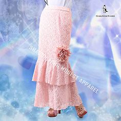 New without tags soft skirt. Modest Outfits, Modest Fashion, Cute Outfits, Fashion Outfits, Lace Ruffle, Ruffle Skirt, Ruffles, Apostolic Clothing, Apostolic Fashion