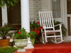 Porch idea - paint my rocking chairs white?