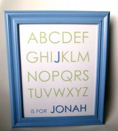 If the parents have revealed the baby's name, you could whip up some awesome framed artwork like this one. #DIYbabygift #newborngift #babyartwork