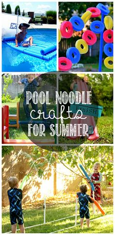 Creative Pool Noodle Crafts to Make this Summer - Crafty Morning - Kids Ideas Cool Baby, Crafts To Make, Fun Crafts, Crafts For Kids, Kids Diy, Pool Noodle Crafts, Summer Fun For Kids, Pool Noodles, Summer Activities