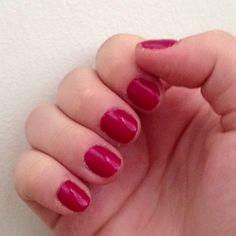Berry coloured nails!