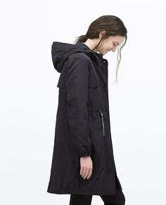 QUILTED GATHERED TRENCHCOAT