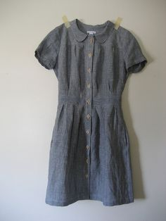 Peter Pan collared shirt dress - Anna Allen