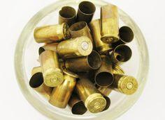 LOT 50 45 Caliber BRASS Gun Shells Casings Spent by eclecticka