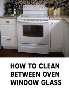 How To Clean Between Oven Window Glass Cleaning Oven Glass, Cleaning Fun, Cleaning Oven Window, Clean Oven Door, How Do You Clean, Oven Cleaner, Double Glass, Window Glass, Good Tutorials