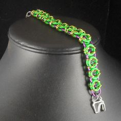 The Bumble - Glow in the Dark Helm Chain Bracelet. $15.00, via Etsy.  15% off all purchases with coupon code BLACKFRIDAY.