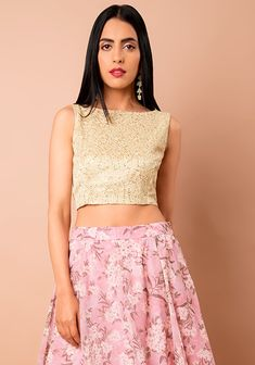 78994a30bb Ivory Embellished Back Cut-Out Crop Top #Ivory #Fashion #FabAlley #BackCut