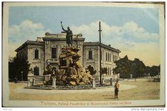 Tulcea - Palatul Pescariilor si Statuia lui Stefan cel Mare - interbelica