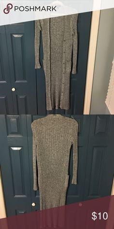 Maxi sweater This knit maxi sweater is very warm and stylish with two pockets in the front and buttons up the middle. Xhilaration Sweaters