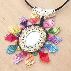 Turkish OYA Lace - Silk Necklace  - Efe Sun by DaisyCappadocia on Etsy