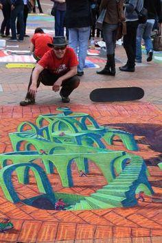 Rudy Kistler chalk pavement art