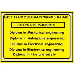 CIVIL,MECHANICAL,ELECTRICAL DIPLOMA PROGRAMS-FAST TRACK http://khalifacity.anunico.ae/ad/career_and_technical_education/civil_mechanical_electrical_diploma_programs_fast_track-30897527.html