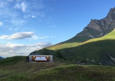 """The Null Stern Hotel is an open air hotel room in the middle of the Swiss Alps. """"Null Stern – the only star is you"""" Hotel Et Spa, Air Hotel, Free Hotel, Glamping, Therme Vals, Places In Switzerland, Outdoor Bedroom, Hotel Concept, Open Air"""