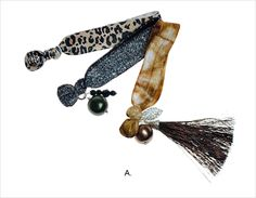 Assorted Knotted Tassel Hair Ties - These ultra comfortable hair ties are bright and effortless with an amazing tassel, crystal and pearl accents in each set #janetran #hairties