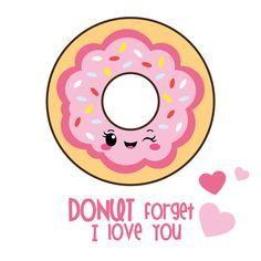 50 OFF SALE Valentine clipart kawaii clipart by CockatooDesign Kawaii Drawings, Easy Drawings, Free Font Design, Chibi Kawaii, Kawaii Cute, Funny Food Puns, Cute Puns, Cute Quotes, Pray Quotes